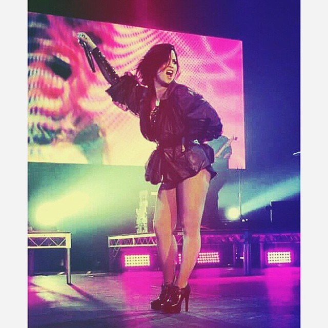 Demi performing in Sydney *-*