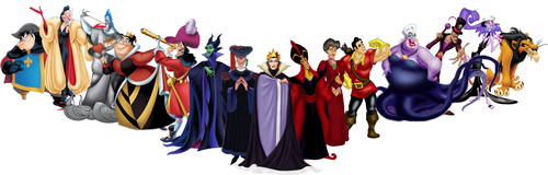 Disney Villains karatasi la kupamba ukuta called Disney Villains Banner