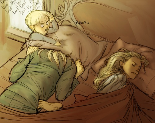 Draco being mean to his father x)