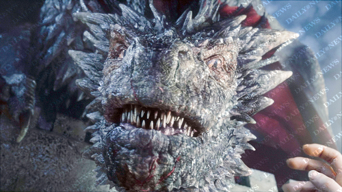 왕좌의 게임 바탕화면 possibly with a triceratops titled Drogon - Season 5