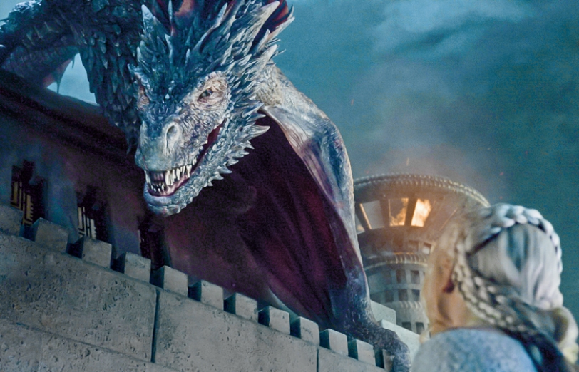 Drogon and Daenerys Targaryen