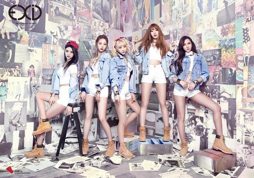 """EXID (이엑스아이디) achtergrond titled EXID CONCEPT TEASERS FOR """"AH YEAH"""""""