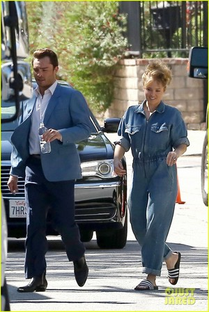 Ed Westwick and Erika Christensen Start Filming New TV Show 'L.A. Crime'