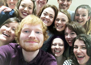 Ed helps Jess Knight to celebrate her 20th birthday