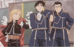 Edward Elric, Roy mustang and Maes Hughes