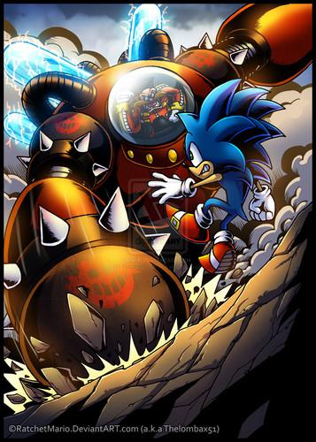 Nhím Sonic hình nền containing anime called Eggman vs Sonic