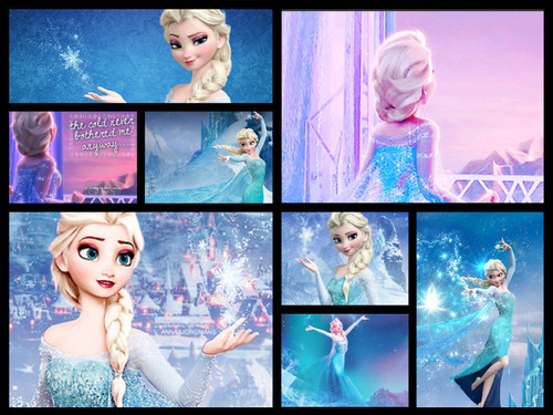 Random Role Playing پیپر وال titled Elsa Collage