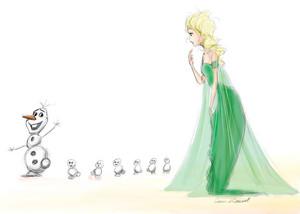 Elsa, Olaf and Snowgies