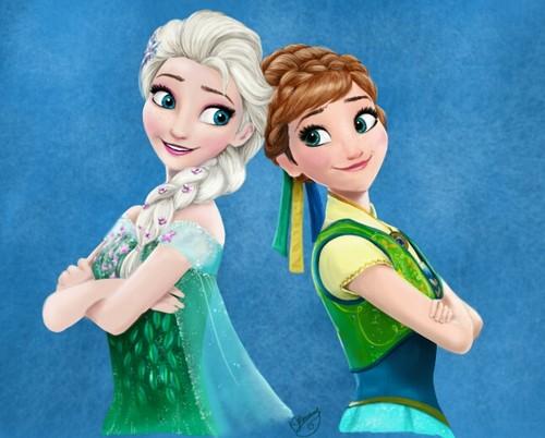Frozen Fever Hintergrund called Elsa and Anna