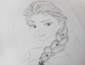 Elsa drawing by abcjkl