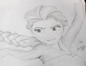 Elsa drawing sejak abcjkl
