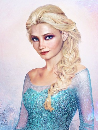 Disney Extended Princess Hintergrund possibly with a bustier and a portrait called Elsa in real life