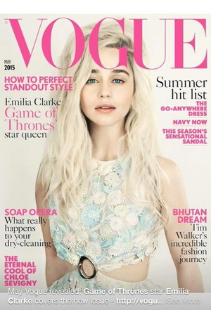 Emilia on a Cover of Vogue Magazine