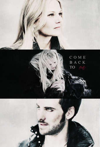 Once Upon A Time پیپر وال containing a portrait entitled Emma and Hook