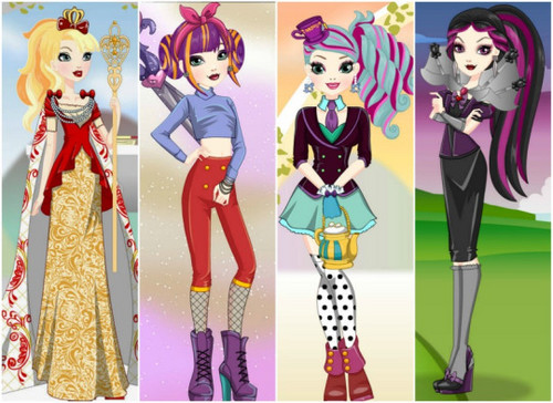 Ever After High wallpaper titled Ever After High Dress Up Games
