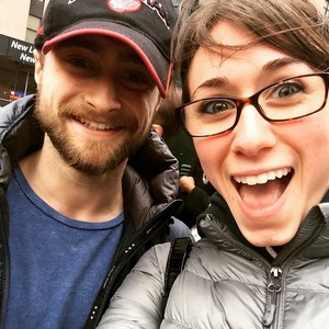 Exclusive Daniel Radcliffe With a fan (Fb.com/DanielJacobRadcliffefanClub)