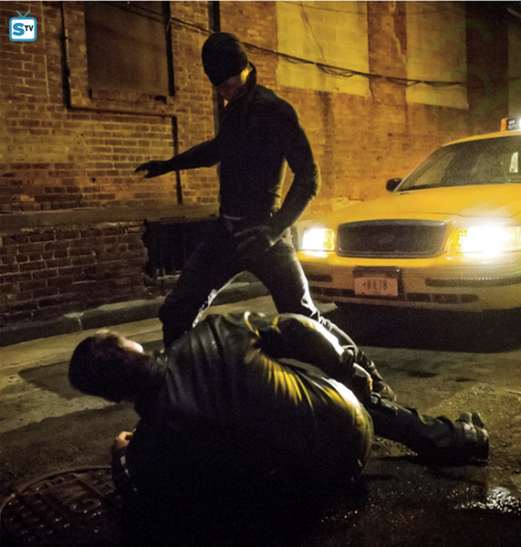 Daredevil (Netflix) 壁紙 with a 通り, ストリート called First Look