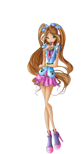 the winx club wallpaper probably with a bouquet called Flora from Winx Club