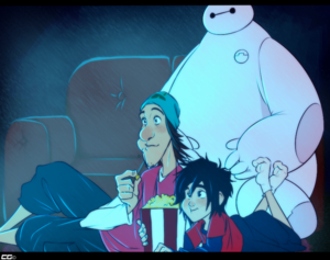 Fred, Hiro and Baymax
