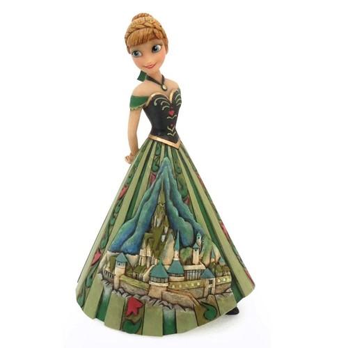 Elsa und Anna Hintergrund entitled Frozen - Anna schloss Dress Figurine Von Jim ufer