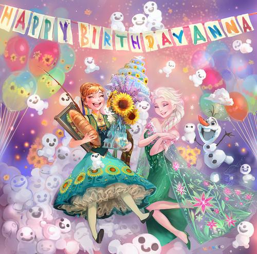 elsa e ana wallpaper possibly containing animê called Frozen - Uma Aventura Congelante Fever