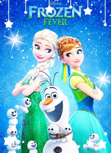 Elsa the Snow Queen karatasi la kupamba ukuta titled Frozen Fever