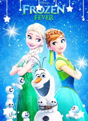 Elsa the Snow Queen karatasi la kupamba ukuta called Frozen Fever