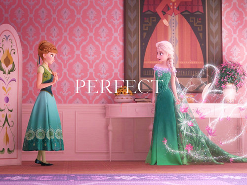Frozen Fever Hintergrund with a bridesmaid and a abendessen dress entitled Frozen Fever