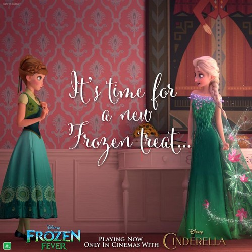 Frozen Fever Hintergrund containing a abendessen dress, a gown, and a bridesmaid called Frozen Fever