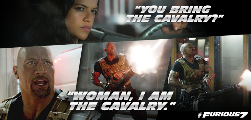Furious 7 - Letty and Hobbs