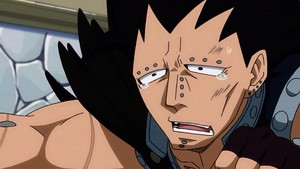 Gajeel crying XD