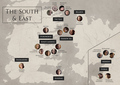 Game of Thrones - Character Locations