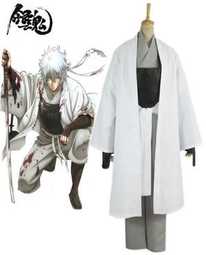 gintama White Demon's Birth Sakata Gintoki Cosplay Costumes