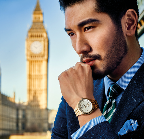 Godfrey Gao karatasi la kupamba ukuta possibly with a business suit and a mitaani, mtaa called Godfrey for viungo of London