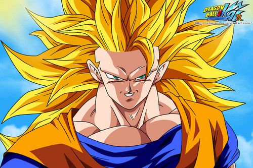 Dragon Ball Z wallpaper with anime entitled Goku Super Saiyan 3