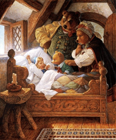 Grimm's Fairy Tales wallpaper titled Goldilocks and the three bears