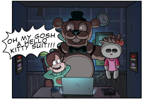 Five Nights at Freddy's 壁紙 entitled Gravity falls fnaf