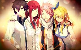 Gray, Erza, Natsu and Lucy