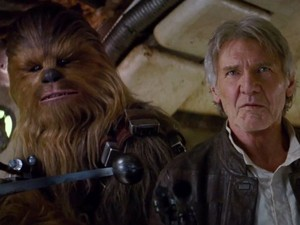 Han Solo and Chewbacca,Star Wars Episode VII :The Force Awakens