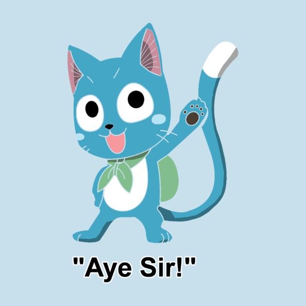 "Happy ""aye sir!"""