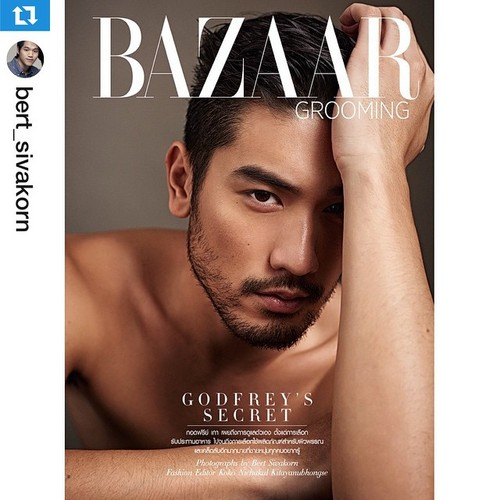 Godfrey Gao fondo de pantalla containing a portrait entitled Harper's Bazaar Thailand