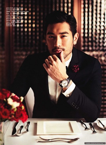 Godfrey Gao wallpaper with a business suit and a suit titled Harper's Bazaar Thailand