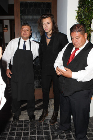 Harry leaving Cecconi's in West Hollywood