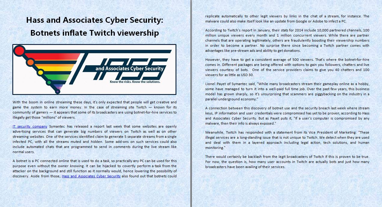Technology imagens Hass and Associates Cyber Security