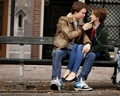 Hazel and Augustus  - the-fault-in-our-stars wallpaper