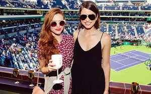 Holland Roden visits The Moet and Chandon Suite at the 2015 BNP Paribas Open