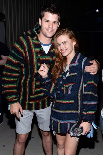 Holland Roden wallpaper called Holland at the Paper Magazine Presents Neon Carnival (11/04/15)