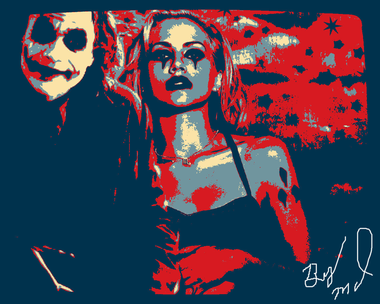 Hope poster for joker and harley