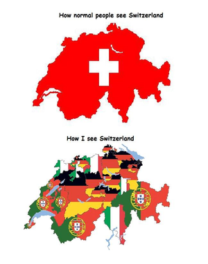 How normal people see Switzerland Vs how I see Switzerland