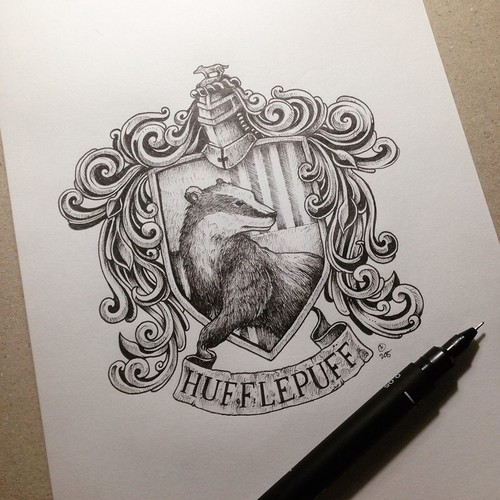 Harry Potter wallpaper probably containing a sign called Hufflepuff